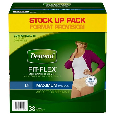Depend Fit-Flex Incontinence Underwear Maximum Absorbency - Large - image 1 of 3
