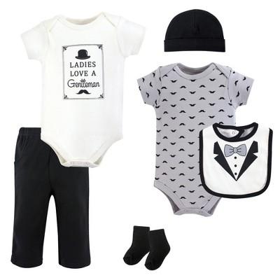 Hudson Baby Infant Boy Cotton Layette Set, Ladies Love