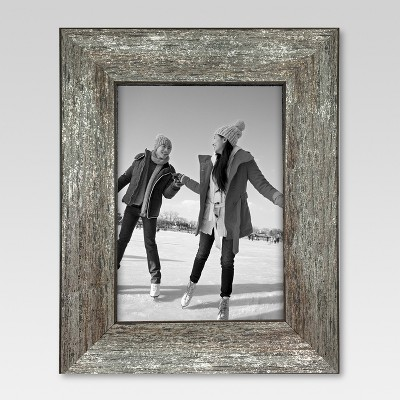 "5"" x 7"" Frame Distressed Wood - Threshold™"