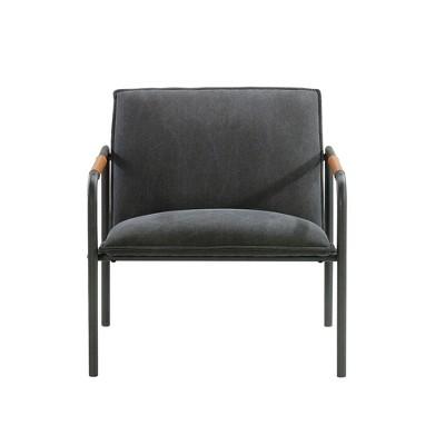 Sauder Boulevard Café Metal Lounge Chair Charcoal Gray