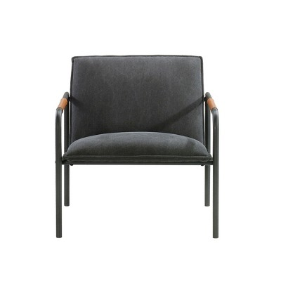 Sauder Boulevard Café Metal Lounge Chair Charcoal Gray