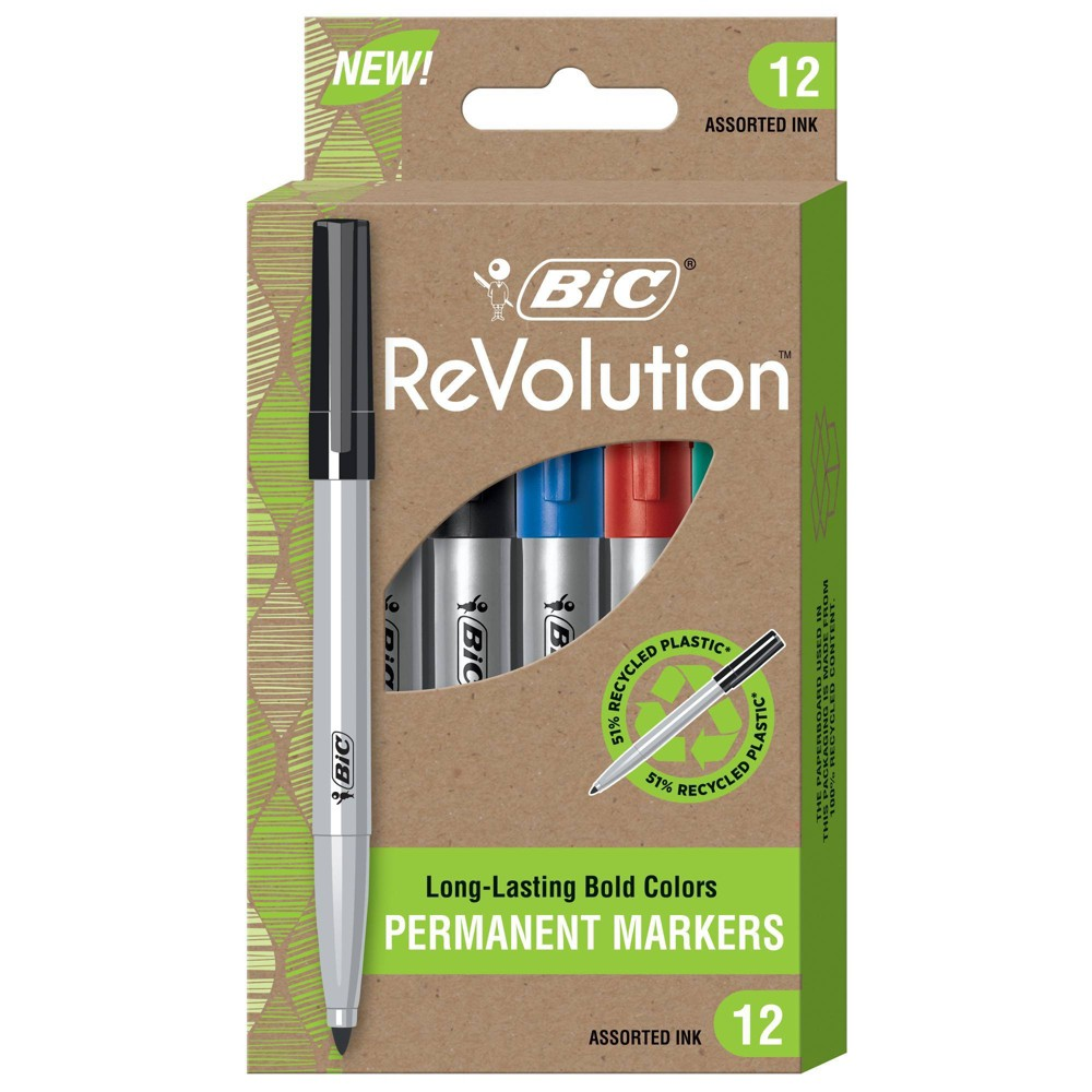 Bic 12pk Permanent Markers Revolution