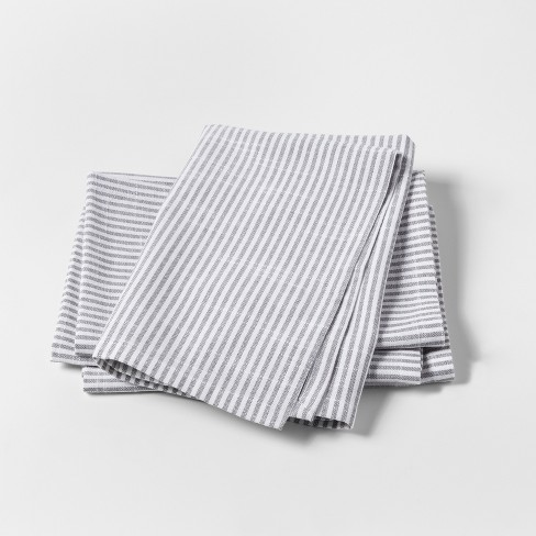 White Stripe Napkins 4pk  - Threshold™ - image 1 of 1