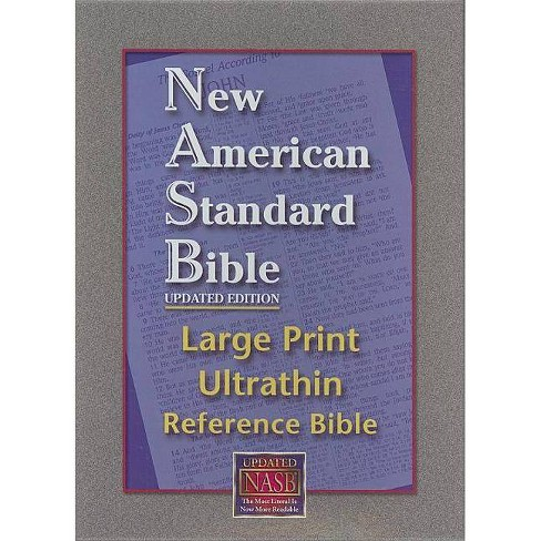 Ultrathin Reference Bible Large Print-NASB - (Leather_bound) - image 1 of 1
