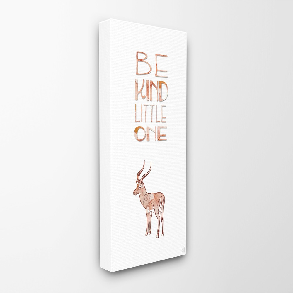Be Kind Little One Antelope Stretched Canvas Wall Art (10x24