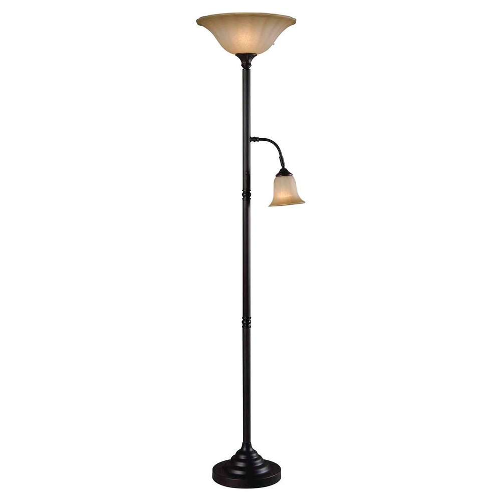 Kenroy Jubilee Torchiere - Bronze Finish (Lamp Only)