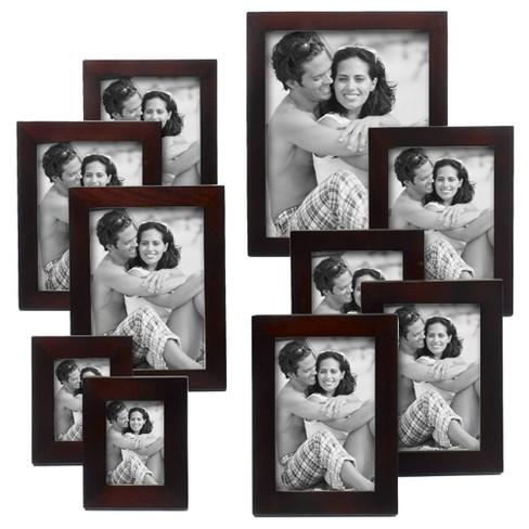 Linear Wood 10 Piece Frame Set Walnut Target