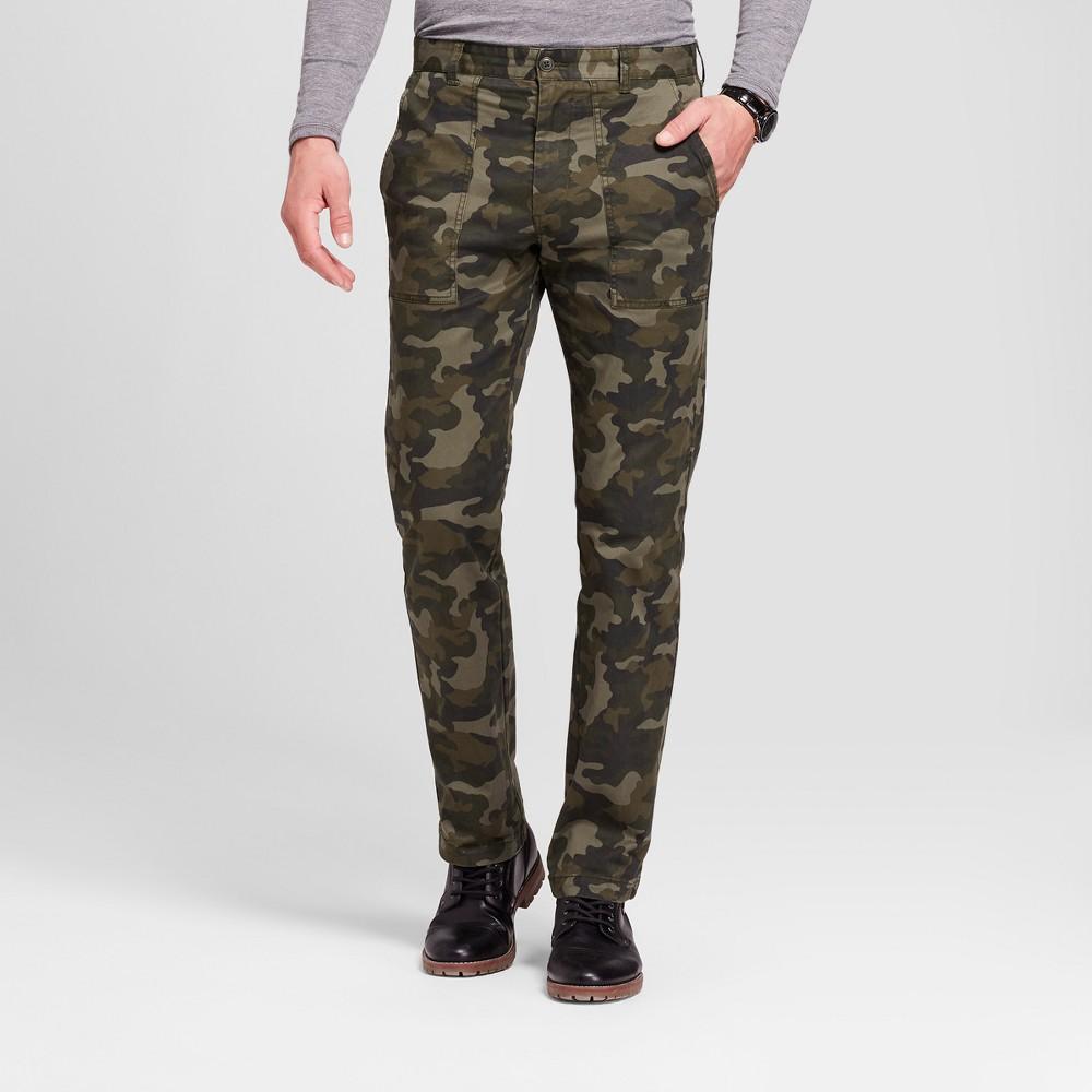 Men's Utility Cargo Pants - Goodfellow & Co Camo 34x34, Green