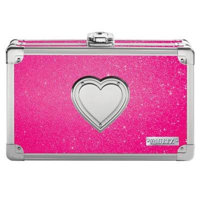 Vaultz Locking Pencil Box Bling Heart - Hot Pink