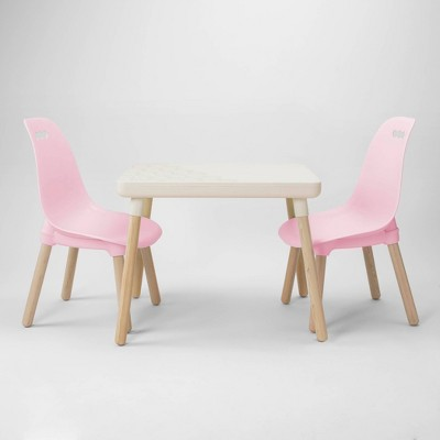 3pc Kid Century Modern Table and Chair Set - B. Spaces