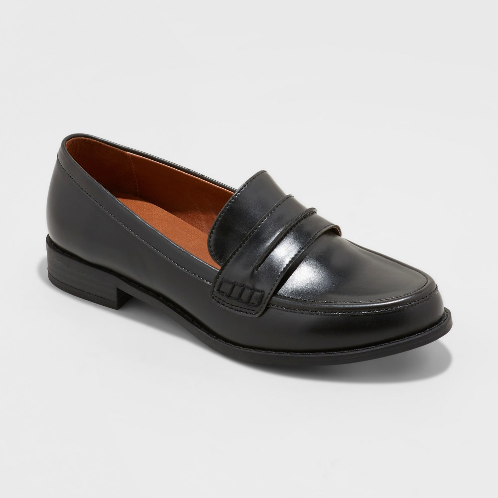 Women's Quinn Closed Back Loafers - Universal Thread Black 5