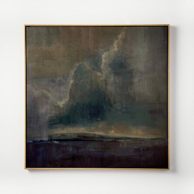 """36"""" x 36"""" Moody Landscape Framed Wall Art - Threshold™ designed with Studio McGee"""