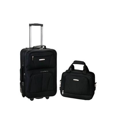Rockland Fashion 2pc Luggage Set -Black