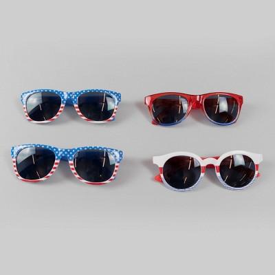 4ct Adult 4th of July Sunglasses - Bullseye's Playground™