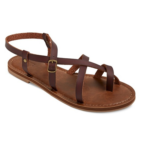 c8d1064c692b Women s Wide Width Lavinia Thong Sandals - Mossimo Supply Co.™ Brown 5.5W    Target