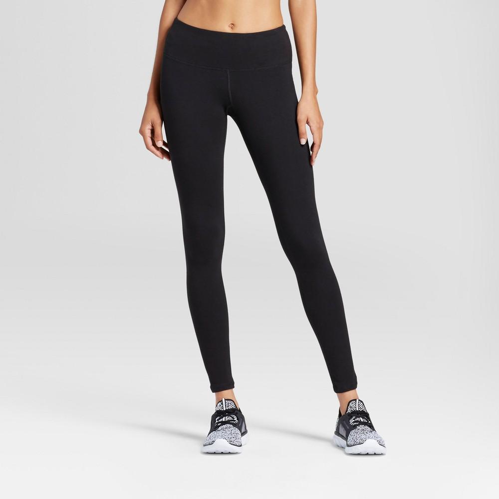 Women's Cotton Mid-Rise Leggings 28.5 - C9 Champion Black XS