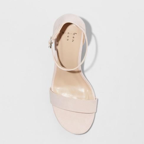 49c2a60a5c39 Women s Ema Wide Width High Block Heel Pumps - A New Day™ Blush 6.5W ...