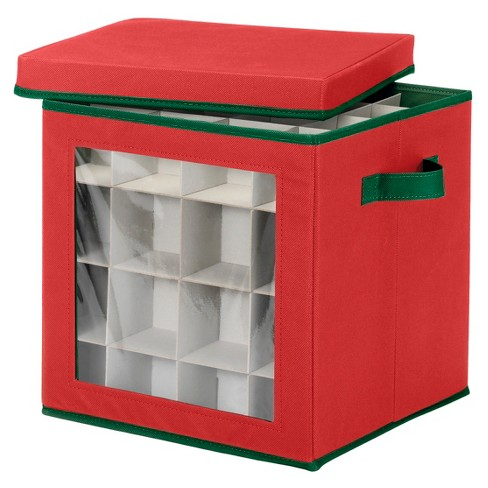 Whitmor Ornament Storage Cube - Red - image 1 of 2