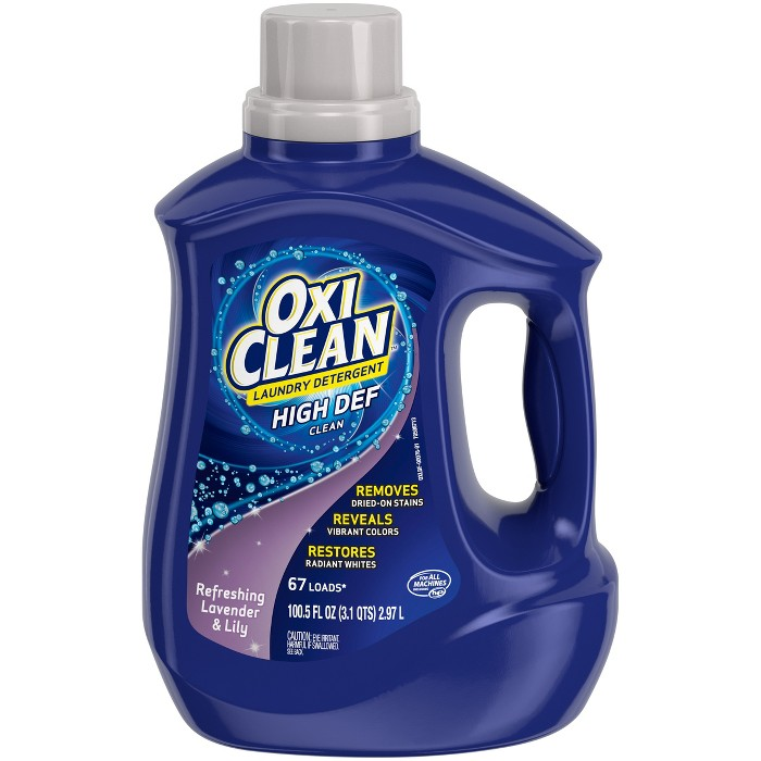 Oxi Clean Refreshing Lavender & Lily Liquid Laundry Detergent - 100.5 fl oz - image 1 of 4