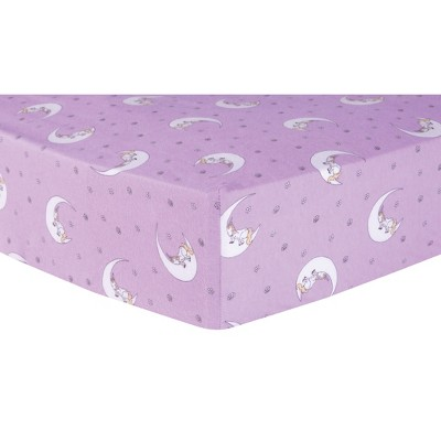Trend Lab Fitted Crib Sheet Unicorn Moon - Purple