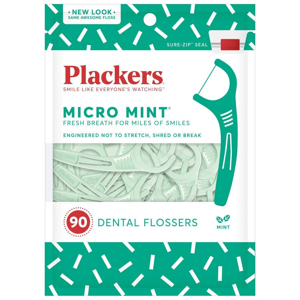 Image of Plackers Mint Dental Flossers - 90ct