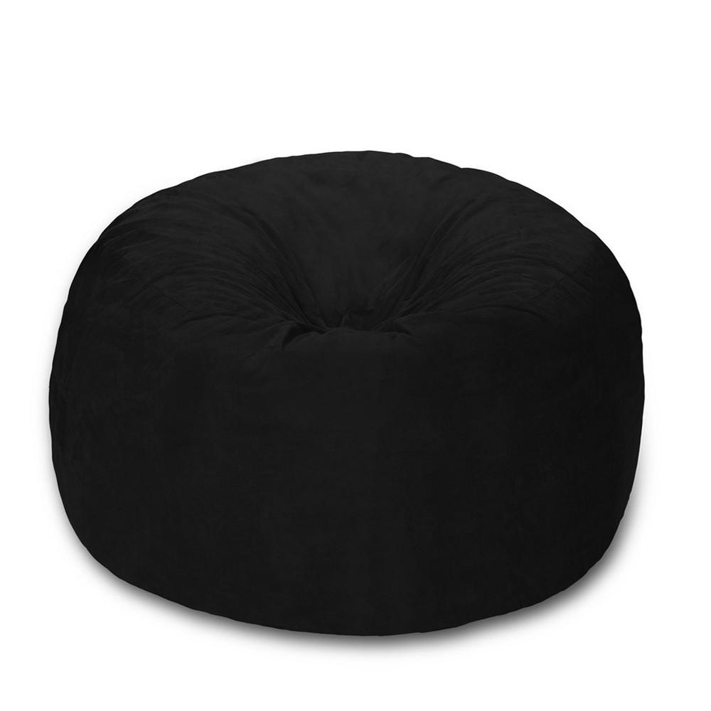 Huge Memory Foam Bean Bag 6 ft - Black - Relax Sacks