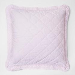 Crochet Trim Linen Blend Pillow Sham Simply Shabby Chic Target