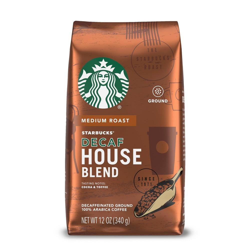 Starbucks Decaf House Blend Medium Roast Ground Coffee 12oz