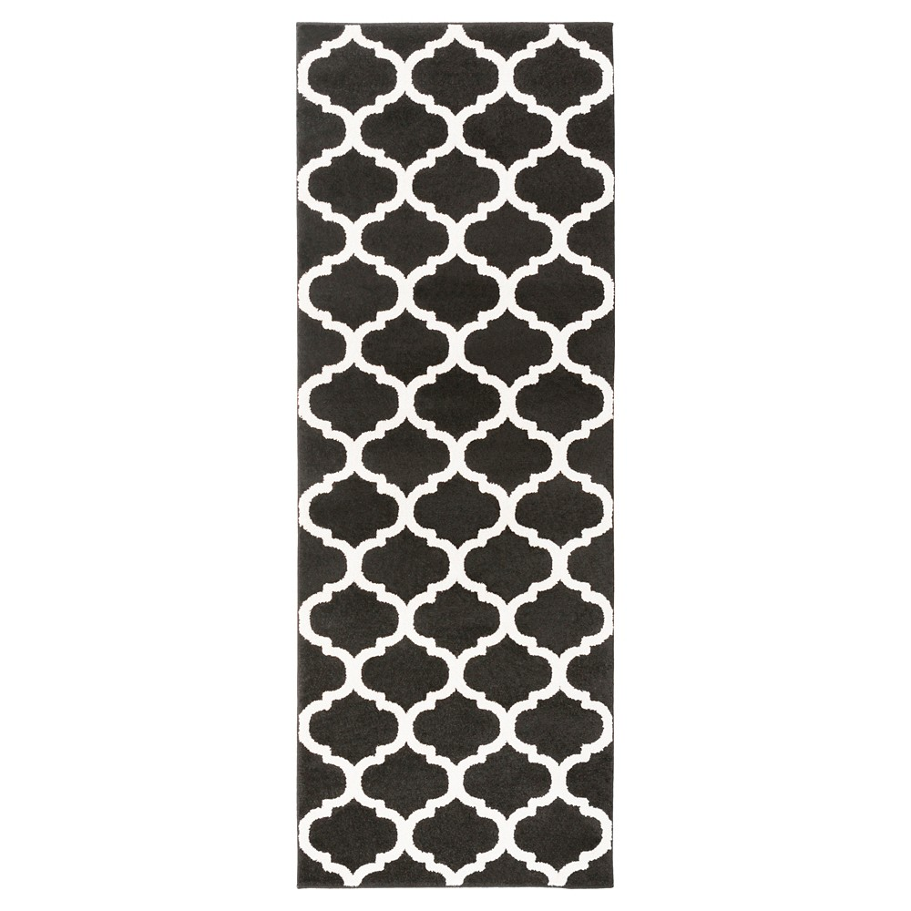 Black Abstract Tufted Runner - (2'7X8') - Surya
