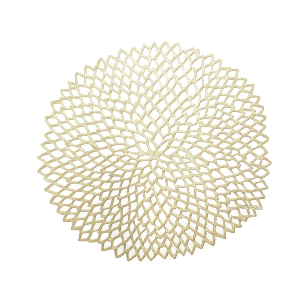 Discounts 4pk Pressed Dahlia Placemats Champagne - Chilewich