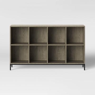 "34"" 8 Cube Loring Bookshelf Gray - Project 62™"