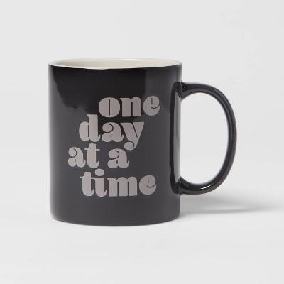 15oz Stoneware One Day At A Time Mug - Room Essentials™