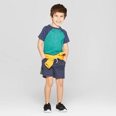 48204a14e57 Toddler Boys  Raglan Short Sleeve T-Shirt - Cat   Jack™ Green Navy   Target