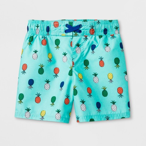 8de6eae1a2 Toddler Boys' Pineapple Print Swim Trunks - Cat & Jack™ Aqua : Target