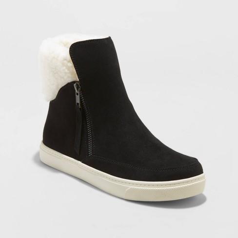 Women's Lei Microsuede Sherpa Sneakers Booties - Universal Thread™ - image 1 of 3