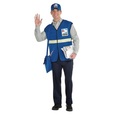 Adult Mail Carrier Halloween Costume Kit S/M