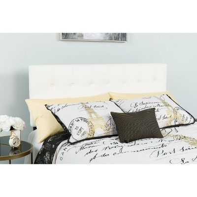 Lennox Button Tufted Upholstered Headboard - Riverstone