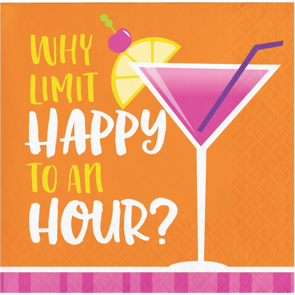 """Image of """"16ct Cocktail Fun """"""""It's 5 o'clock somewhere"""""""" Beverage Napkins"""""""