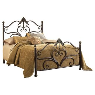 Newton Bed with Rails - Antique Brown (Queen) - Hillsdale Furniture
