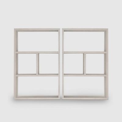 2ct Wood Shelves White - Bullseye's Playground™