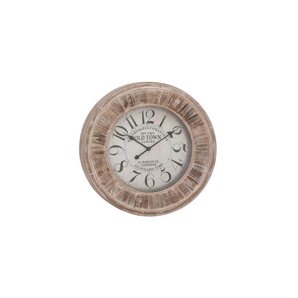 Image of Vintage Wooden Decorative Clock 31 - Olivia & May