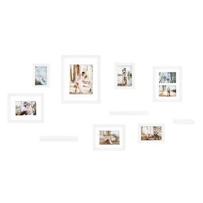 10pc Bordeaux Frame Box Set White - Kate & Laurel All Things Decor
