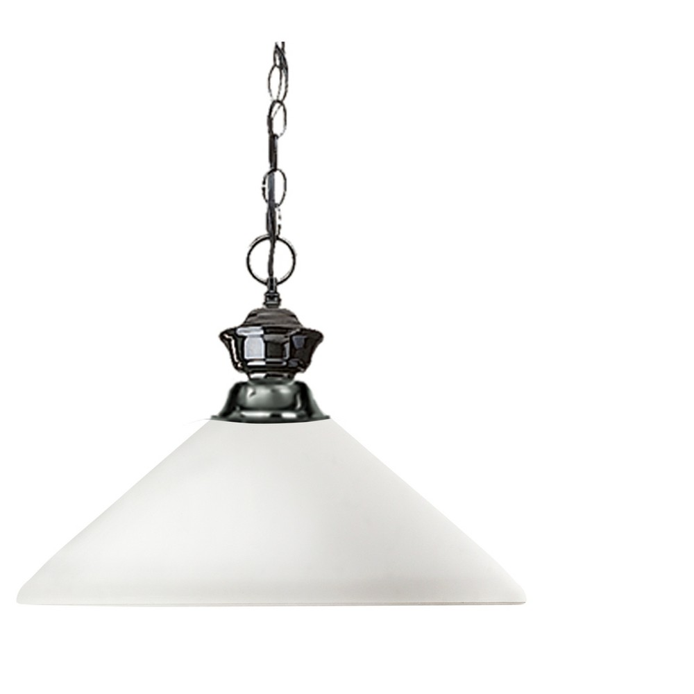 Pendant with Matte Opal Glass Ceiling Lights - Z-Lite, Silver