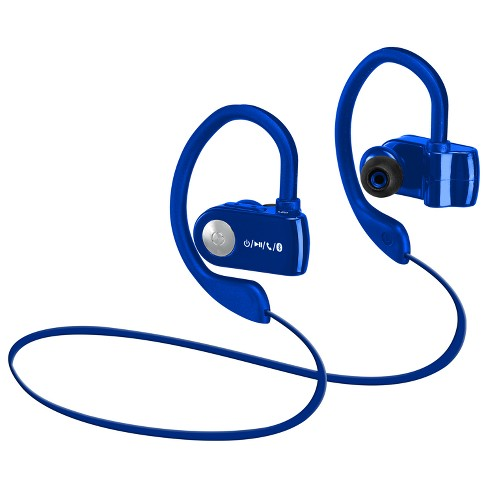 29c0bf28a8d ILive Audio Sports Performance Bluetooth Earbuds With Hanger - Blue  (IAEB26BU) : Target