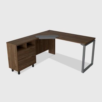 Emery 3 Drawer Desk Brown - RST Brands