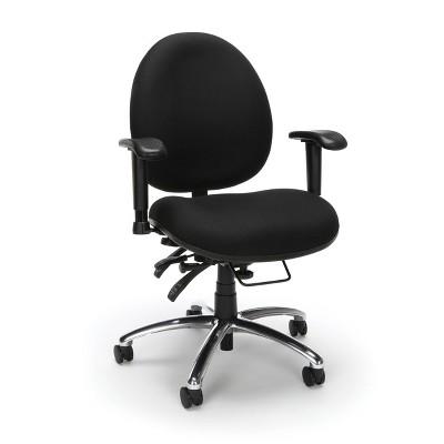 Big & Tall Computer Desk with Ergonomic Task Chair Black - OFM