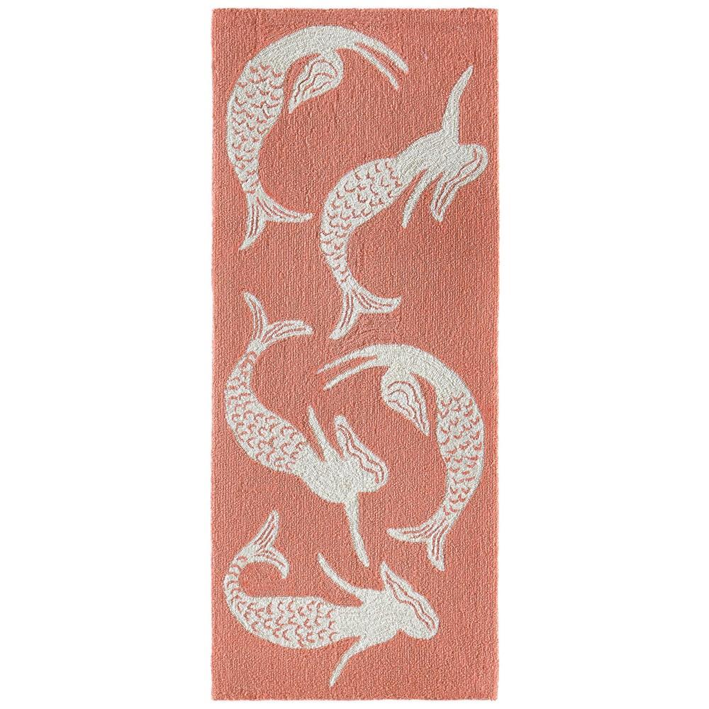 2'X5' Mermaid Runner Hot Coral - Liora Manne