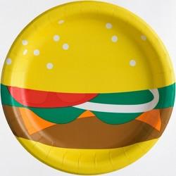 "20ct 8.5"" Burger Dinner Plate - Sun Squad™"
