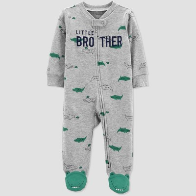 Baby Boys' Little Brother Sleep N' Play - Just One You® made by carter's Gray/Green Newborn