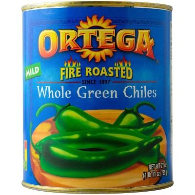 Ortega Whole Green Fire Roasted Chiles 27oz